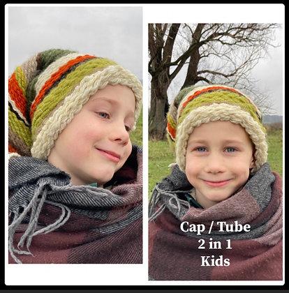 Handgeweven Tube / Dreadcap ' The Magical 2 in1' KIDS
