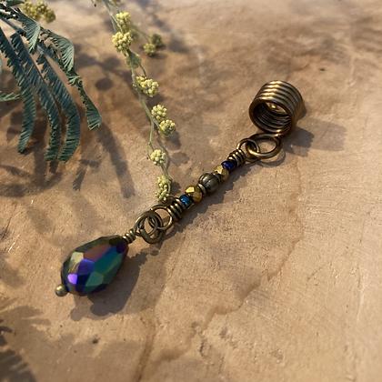 Bohemian dreadlock kraal pendant