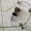 Thumbnail: Dreadlock bead hout & bergkristal