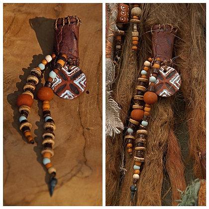 Dreadbead pottery beads earth