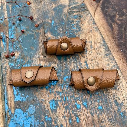 Leren Dreadlock beads 3 stuks