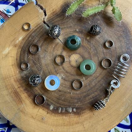 Set Dreadlock beads Forest