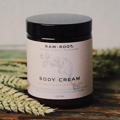 RAWROOTs  Bodycreme Macadamia & Kokosnoot