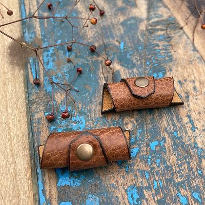 Leren Dreadlock Beads 2 stuks
