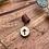 Thumbnail: Dreadlock bead aan leren hanger Tiwaz