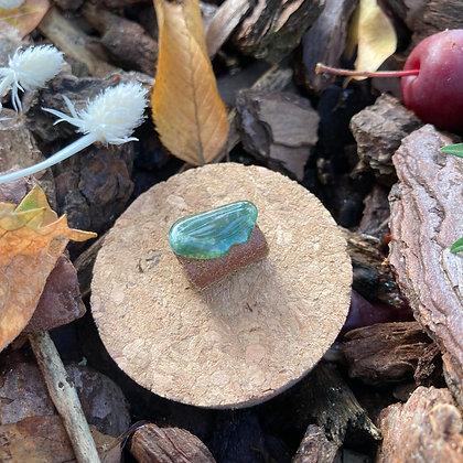 Dreadlock bead green stone