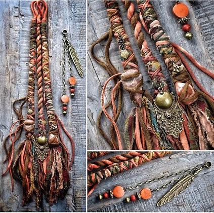Dreadwraps & bead set of 4.