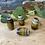 Thumbnail: Dreadlock Bead Ceramic effect Brown