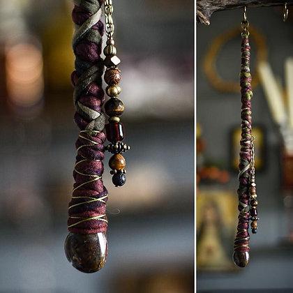 Dreadlock Jewelery Bead-wrap Bronze 34cm