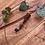 Thumbnail: Dreadlock bead aan leren hanger Happy