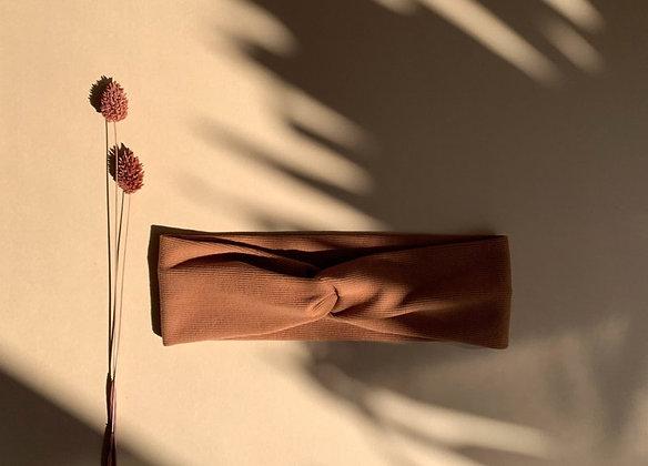 Haarband ribtricot  pecan