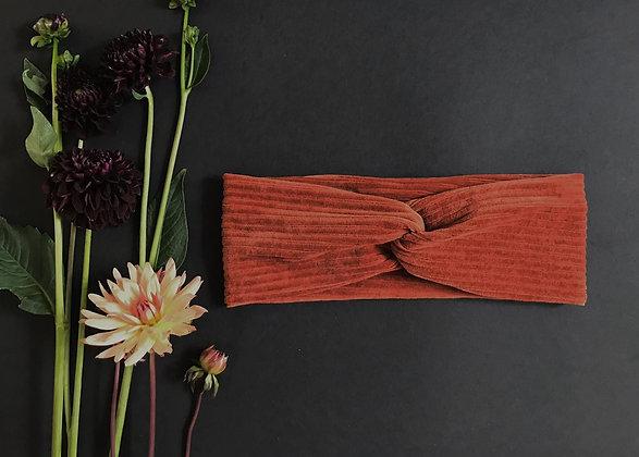 Haarband Roest oranje corduroy