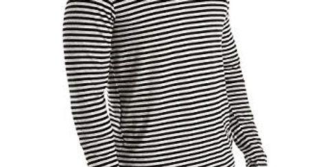 Ralph Lauren Men's Supreme Comfort Cotton Long Sleeve Shirt, Black/Grey 48