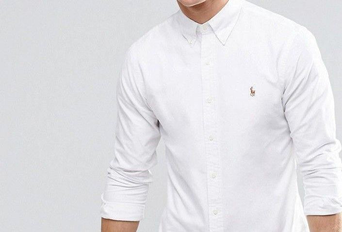 Polo Ralph Lauren Oxford Shirt In Slim Fit White 122
