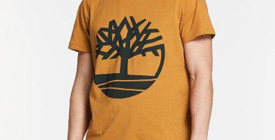 Timberland Men's Tree Logo Printed T-Shirt, Mustard Color 70