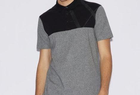Armani Exchange Bicolour polo shirt 3gzfad zjh4z - Black / Grey