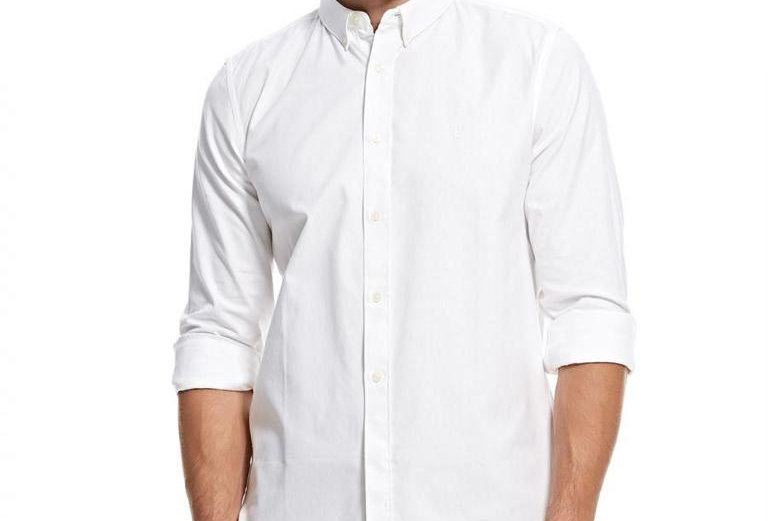French Connection Men's White Summer Soft Oxford Shirt P139