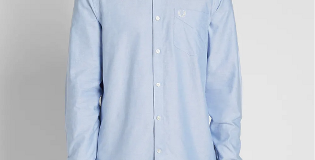 FRED PERRY - CLASSIC OXFORD SHIRT LIGHT SMOKE M3551