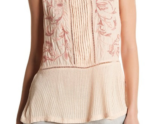 Lucky Brand Embroidered Mix Tank P24