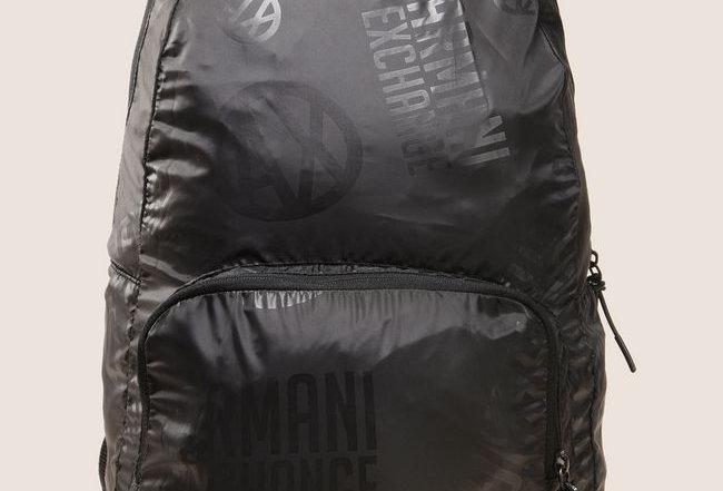Armani Exchange Circle Logo Nylon backpack 952097 - Black