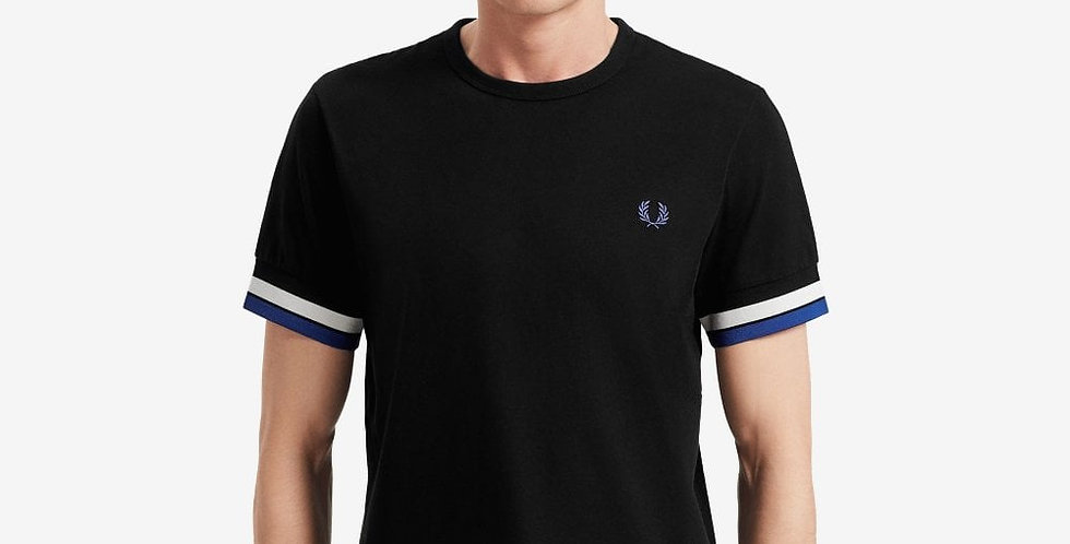 FRED PERRY - Bold Tipped T-Shirt Black M7539
