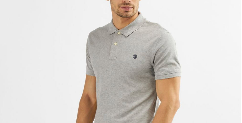 TIMBERLAND MILLERS RIVER Grey POLO T-SHIRT 80