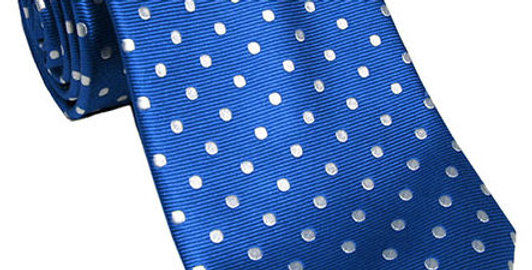 Tommy Hilfiger Men's Classic Blue Dotted White Tie 39