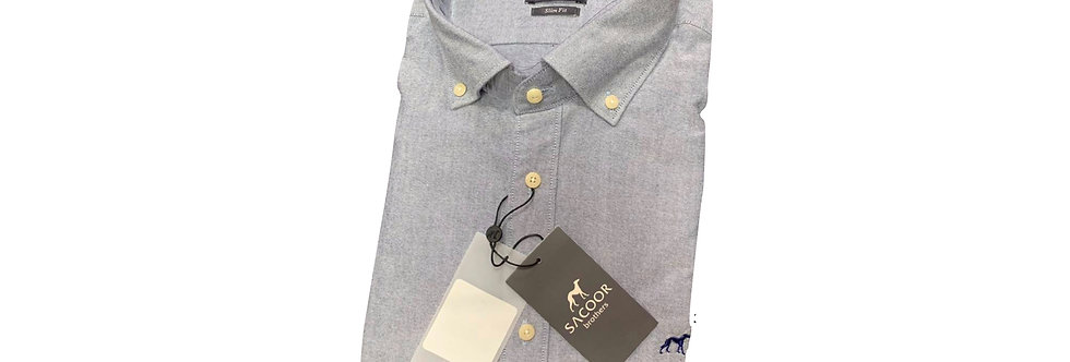 Sacoor Men's Oxford Grey Shirt P150