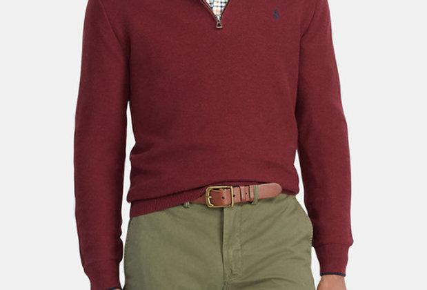Polo Ralph Lauren Men's Maroon Pima Cotton Sweater 122