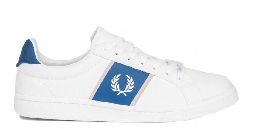 Fred Perry - Canvas Tricot White Royal B5177 200