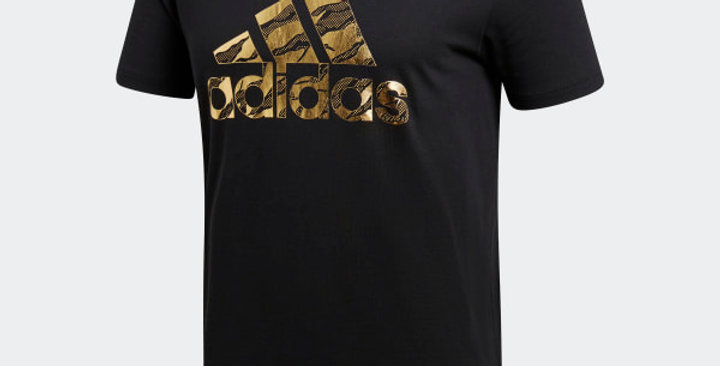 Adidas Badge of Sports Camouflage Tee di0304 - Black / Gold