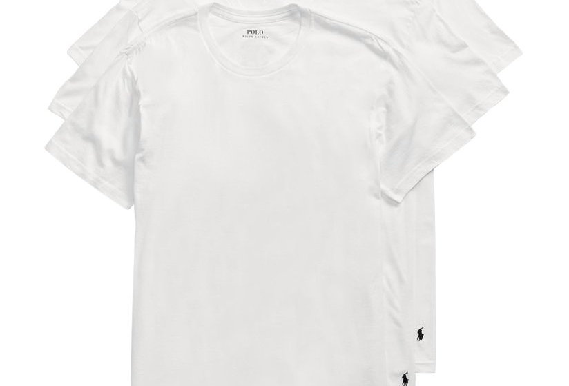 Polo Ralph Lauren White Cotton Crews T-Shirt (Pack of 3) 51
