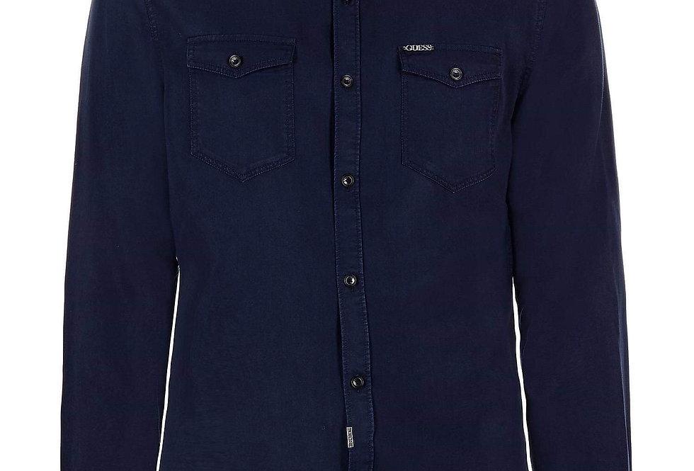 Guess Navy Blue Soft Slim Fit Shirt 75