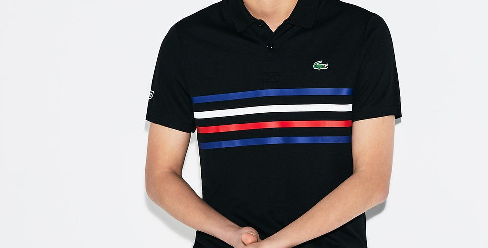 Lacoste Sport Colored Bands Technical Pique Tennis Polo 87