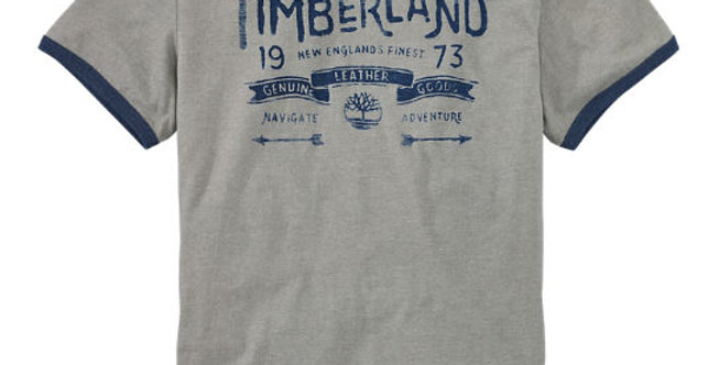 Timberland Men's Navigate Adventure Ringer Printed T-Shirt Style A1Q4G030 60