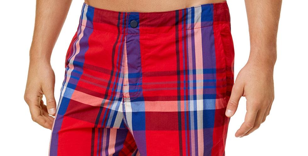 Tommy Hilfiger Men's Red Swim Trunks 48