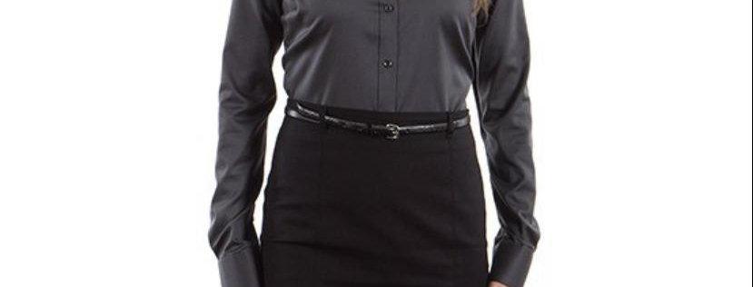 Calvin Klein Women's Non-Iron Pincord, Carbon P69