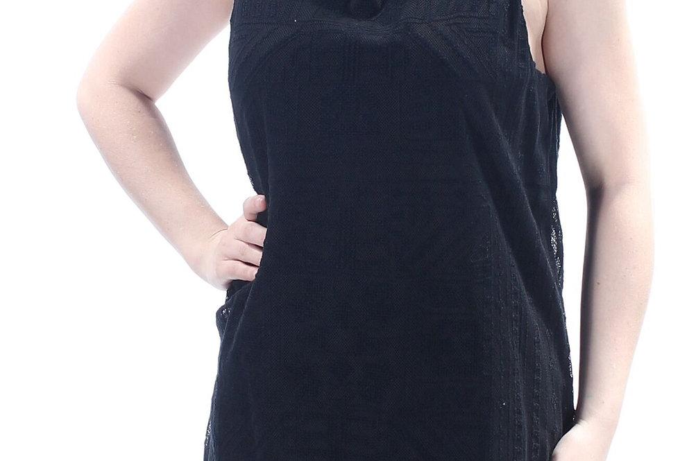 Ralph Lauren Womens 1232 Black Lace JEWEL Neck Sleeveless Top P64