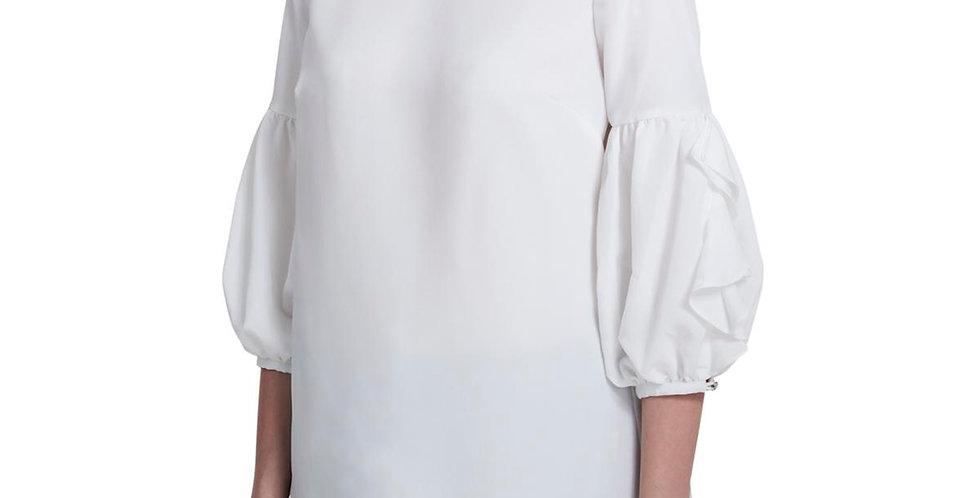 Calvin Klein Womens Crepe Sheer Flutter Sleeves P64