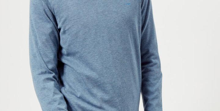 Michael Kors Mens Classic V-Neck Sweater, Wave Melange P79