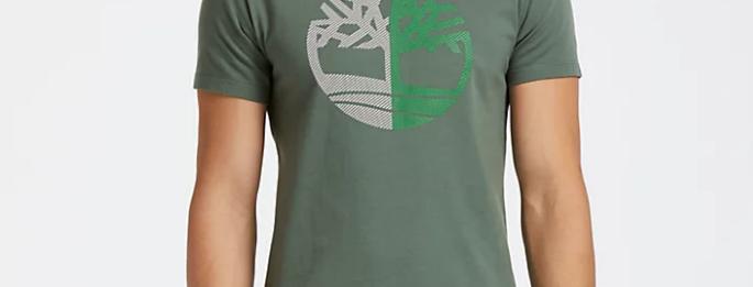 Timberland MEN'S SLIM FIT SPLIT TREE LOGO T-SHIRT A1L7L
