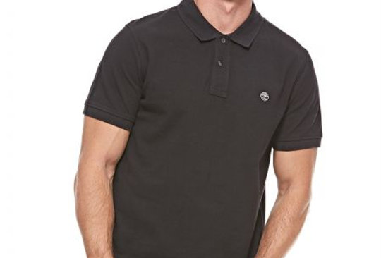 TIMBERLAND MILLERS RIVER Black POLO T-SHIRT 90