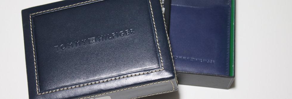 Tommy Hilfiger  genuine leather wallet - Navy
