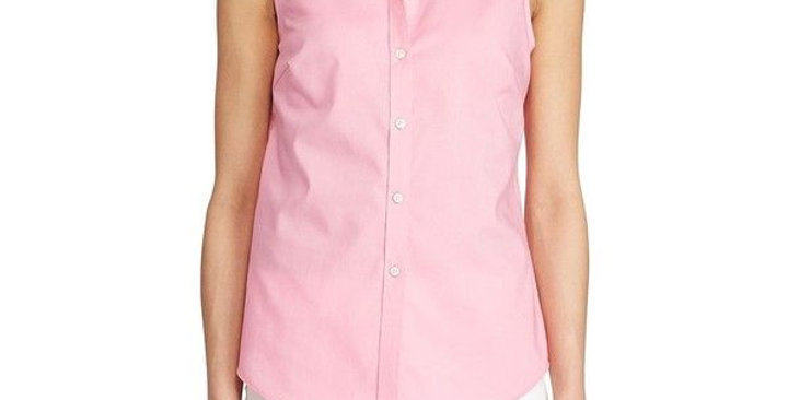Lauren Ralph Lauren Pink Sleeveless Shirt P62