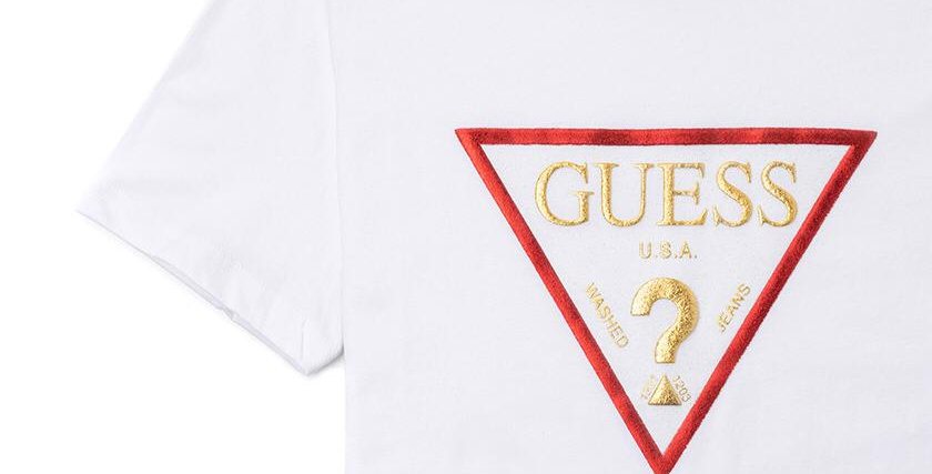 Guess White Women Printed T-Shirt P99