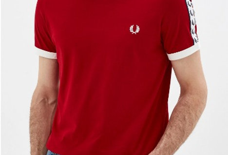FRED PERRY - AUTHENTIC TAPED RINGER TEE PITCH M6347