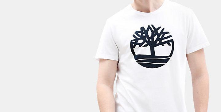 Timberland T-shirt CAMISETA KENNEBEC RIVER TREE PARA HOMBRE EN BLANCO tb0a1lcc k