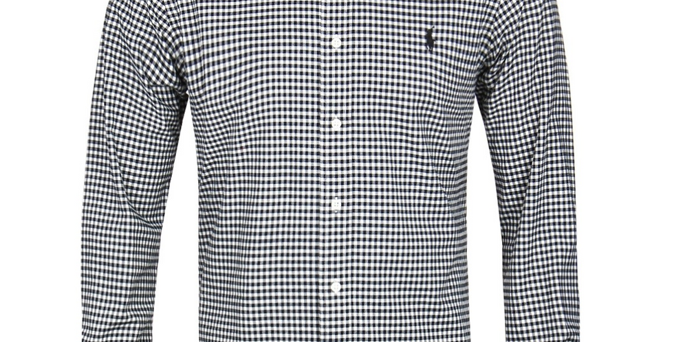 Polo Ralph Lauren Long Sleeve Classic Fit Gingham White/Black Shirt 122