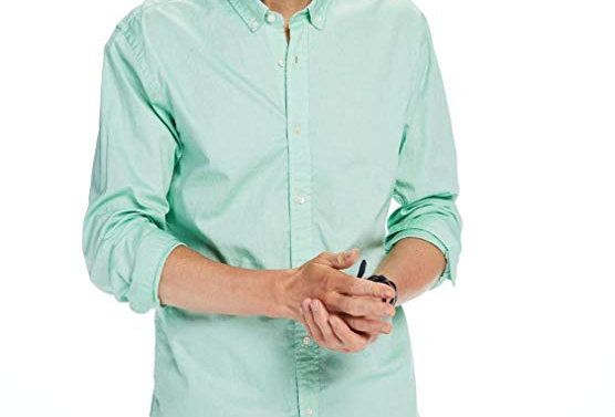 Scotch and Soda Men's Light Green Shirt 136303 P90