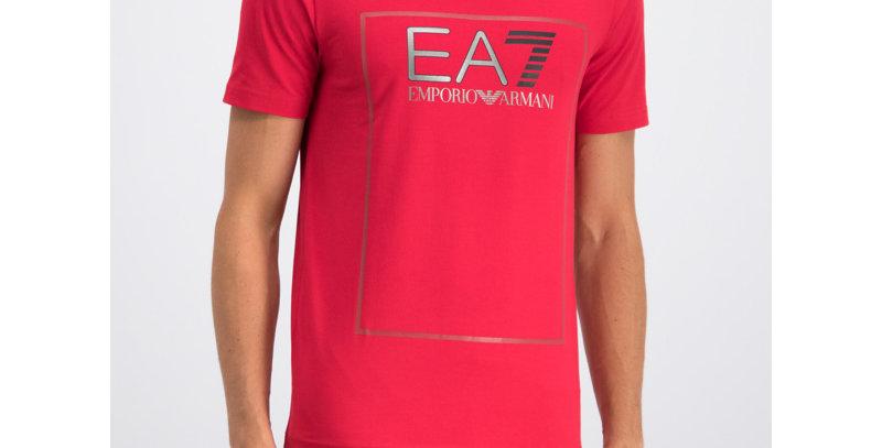 EA7 EMPORIO ARMANI EA7 Emporio Armani Box Logo T-ShirtRed 6GPT09 PJ20Z